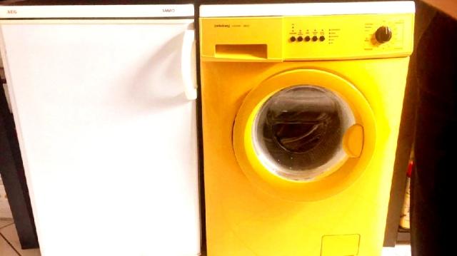 我が家の洗濯機はファンキーな黄色
