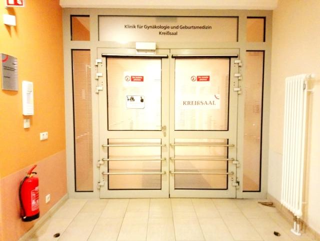 分娩室への入り口
