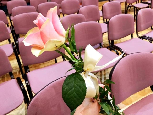 今年いただいたバラの花