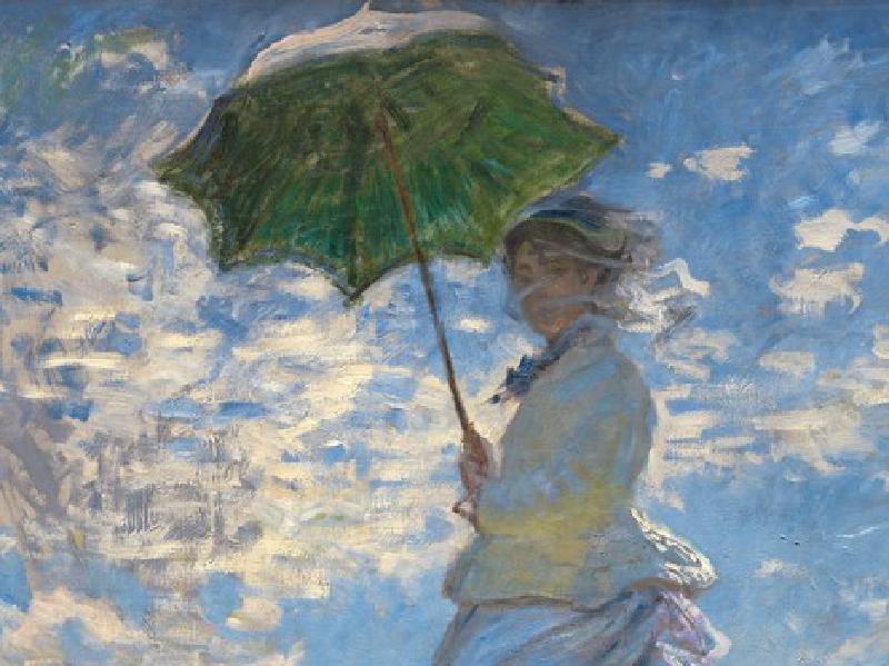 クロード・モネ 日傘の女
